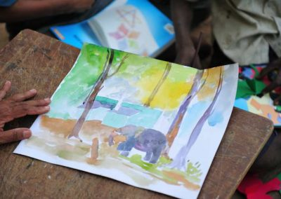 Painting done by mahouts kids